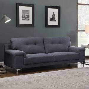 Καναπές 3θέσ.Ύφασμα Μπλε-Γκρι
