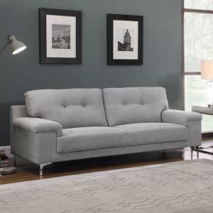 Καναπές 3θέσ.Ύφασμα Ανοικτό Γκρι