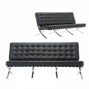 τ. Καναπές 3-θέσιος Pu Μαύρο