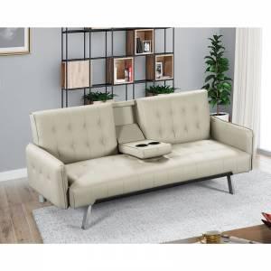 Καναπές / Κρεβάτι Σαλονιού - Καθιστικού / Pu Μπεζ