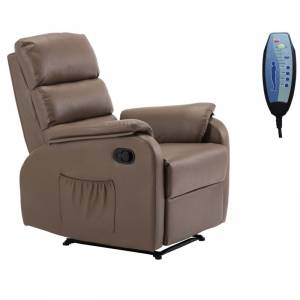 Massage Πολυθρόνα Relax Σαλονιού - Καθιστικού PU Cappuccino