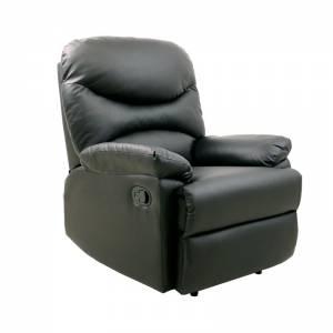 Πολυθρόνα Relax Σαλονιού - Καθιστικού / Pu Μαύρο