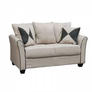 Καναπές 2θέσ.Ύφασμα Μπεζ 142x80x88cm