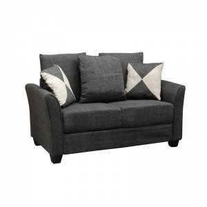 Καναπές 2θέσ.Ύφασμα Ανθρακί 142x80x88cm