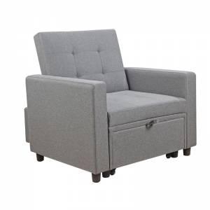 Πολυθρόνα-Κρεβάτι Ύφασμα Αν.Γκρι