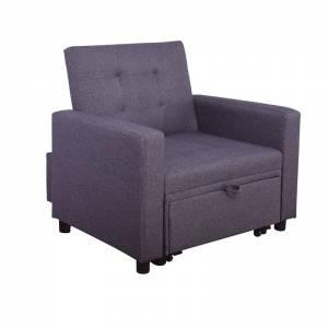 Πολυθρόνα - Κρεβάτι Σαλονιού - Καθιστικού Ύφασμα Μελιτζανί