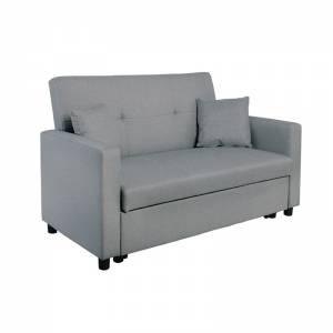 Καναπές 2θέσιος-Κρεβάτι Ύφασμα Αν.Γκρι
