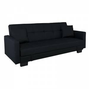 Καναπ.Κρεβάτι Ύφ.Μαύρο/Αποθ.Χώρος