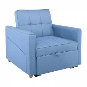 Πολυθρόνα / Κρεβάτι Σαλονιού - Καθιστικού / Ύφασμα Μπλε