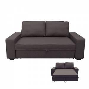 Καναπές - Κρεβάτι Σαλονιού - Καθιστικού Nabuk Σκούρο Καφέ