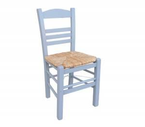 Καρέκλα Ψάθα Εμποτ.Λάκα Γκρι