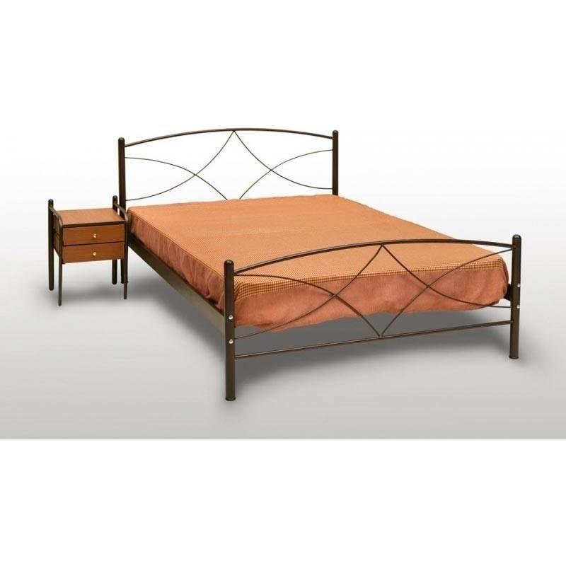 Ανδρος Κρεβάτι Μονό Μεταλλικό 90x190cm