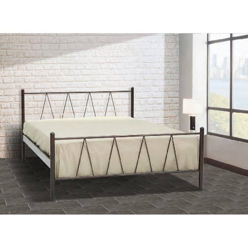 Ιος Κρεβάτι Ημίδιπλο Μεταλλικό 110x190cm