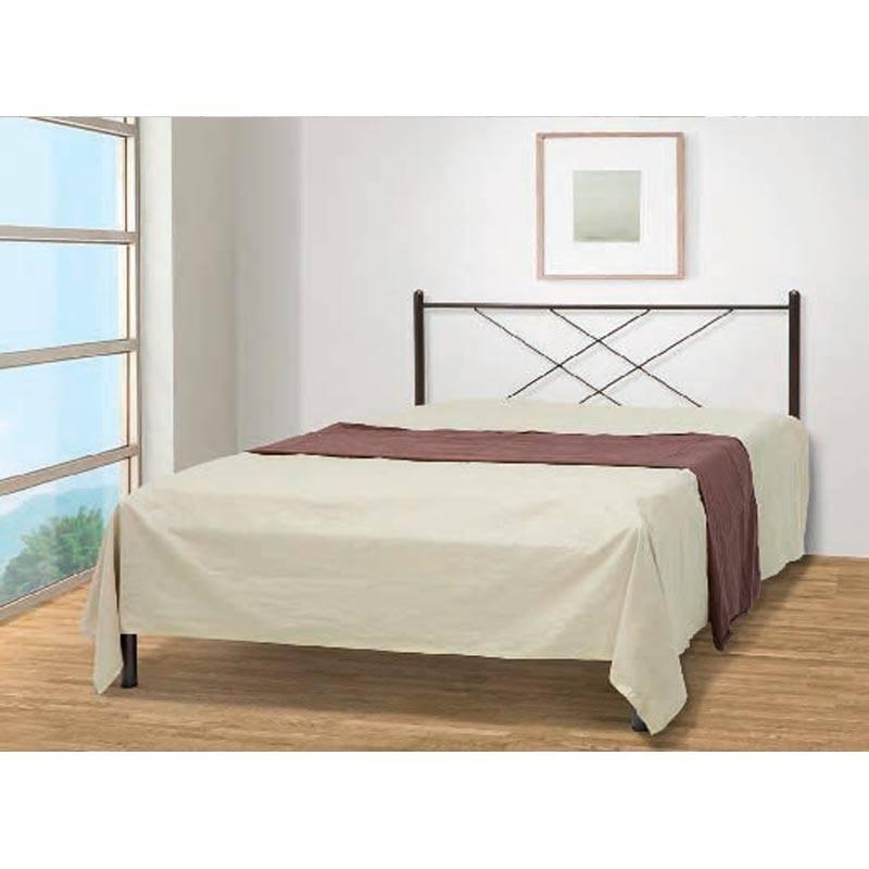 Καρέ Κρεβάτι Ημίδιπλο Μεταλλικό 110x190cm