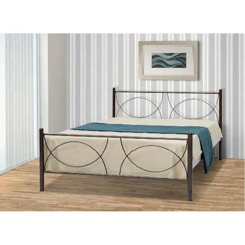 Κούπα Κρεβάτι Μονό Μεταλλικό 90x190cm