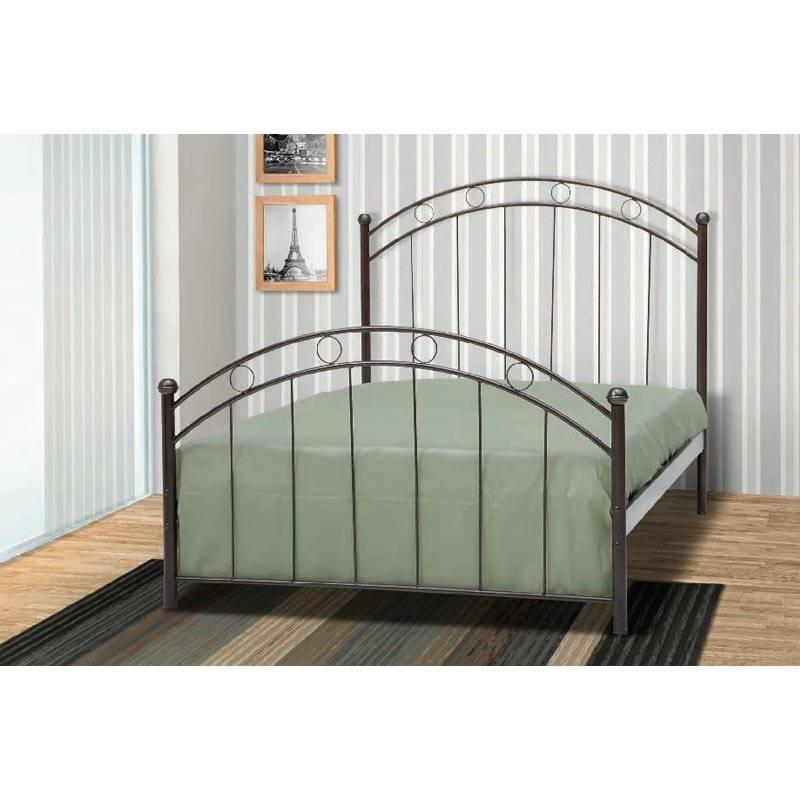 Φίλιππος Κρεβάτι Ημίδιπλο Μεταλλικό 110x190cm