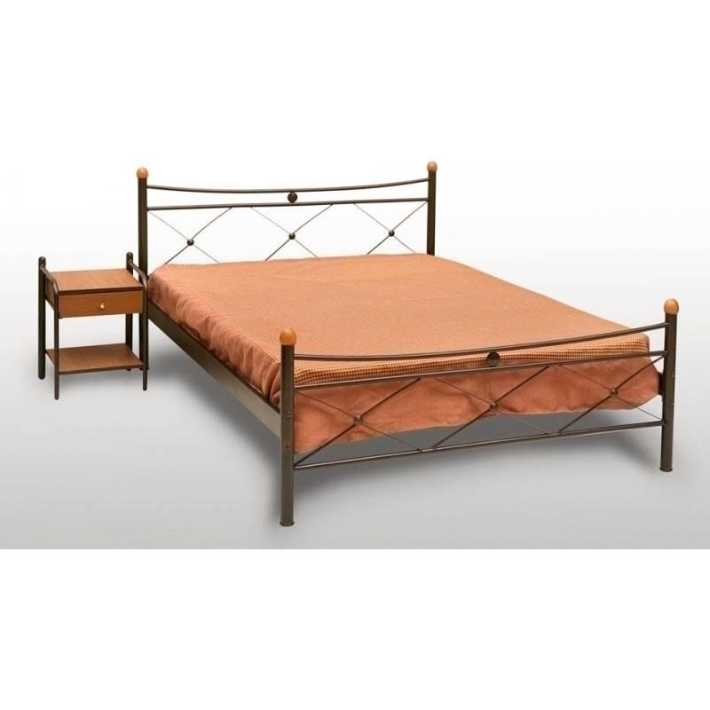 Χιαστή Κρεβάτι Διπλό Μεταλλικό