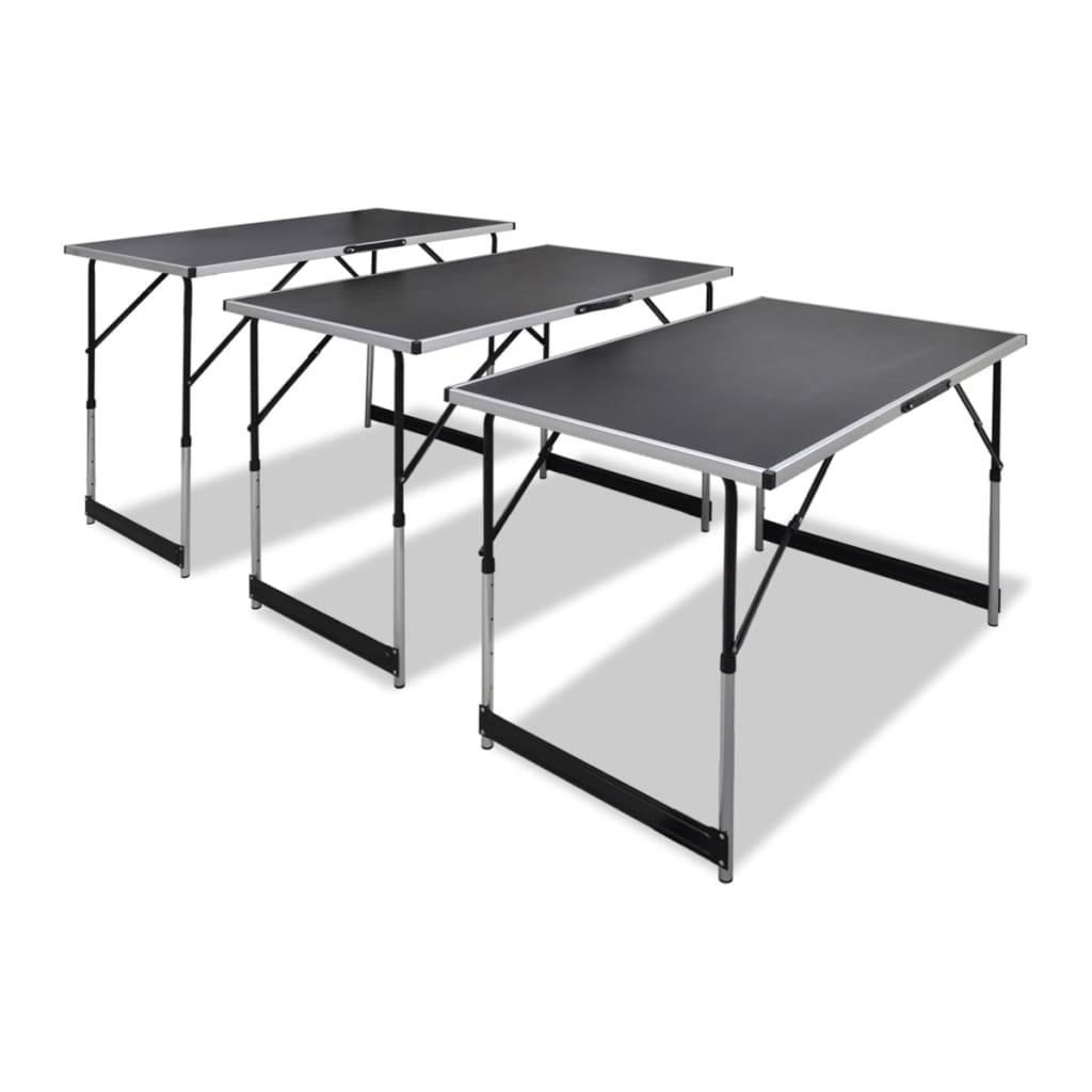 Τραπέζι για Κόλληση Ταπετσαρίας 3 τεμ. Πτυσσόμενο Ρυθμ. Ύψος