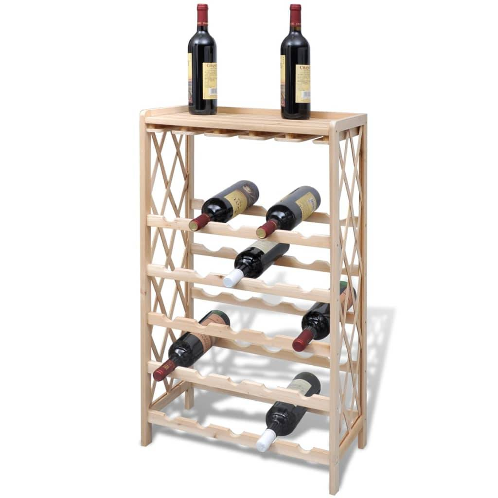 Κάβα / Ραφιέρα Κρασιών για 25 Μπουκάλια Ξύλινη