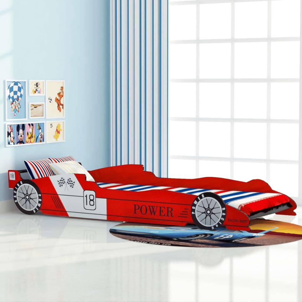 Κρεβάτι Παιδικό Αγωνιστικό Αυτοκίνητο Κόκκινο 90 x 200 εκ.