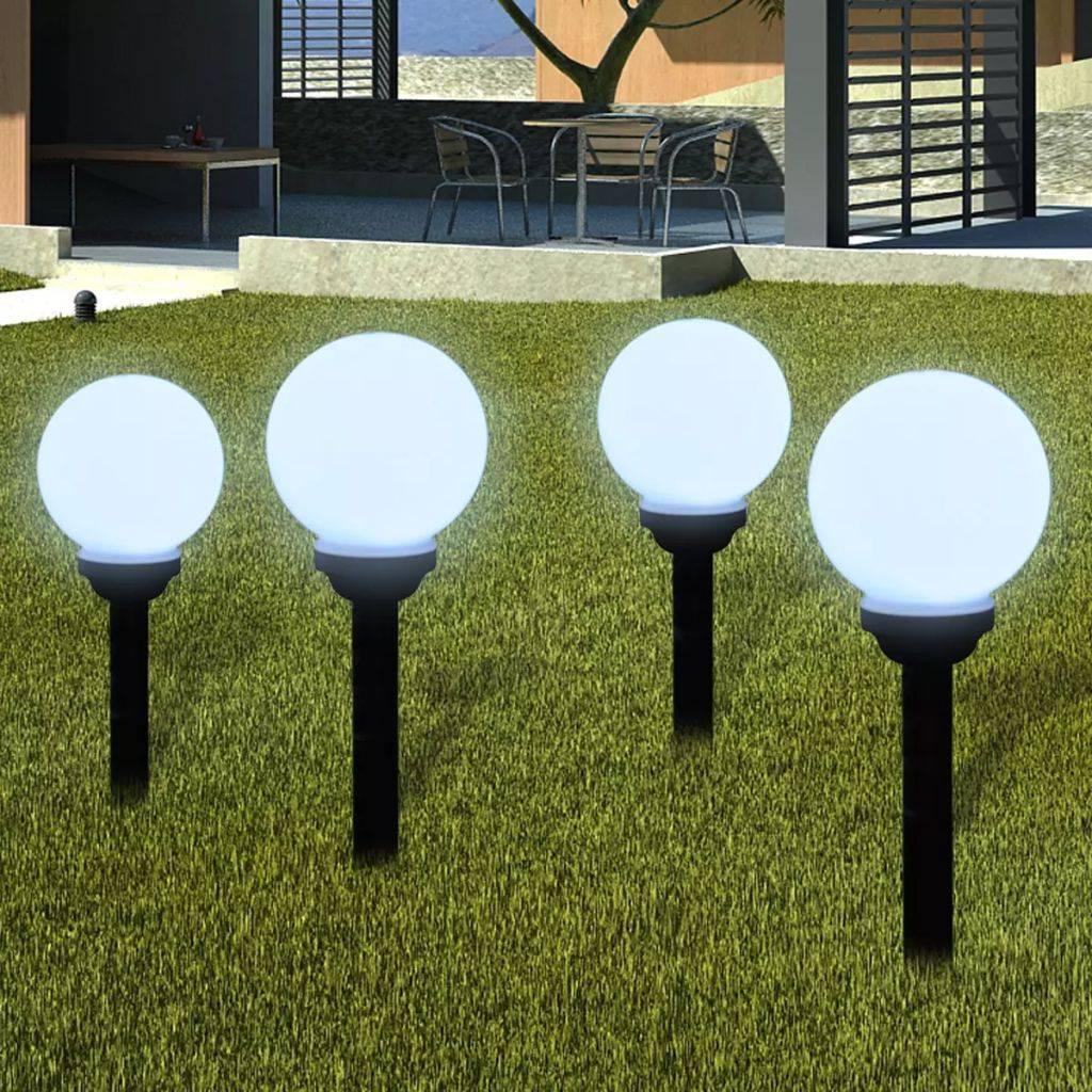 Ηλιακοί γλόμποι με LED για διαδρόμους κήπου