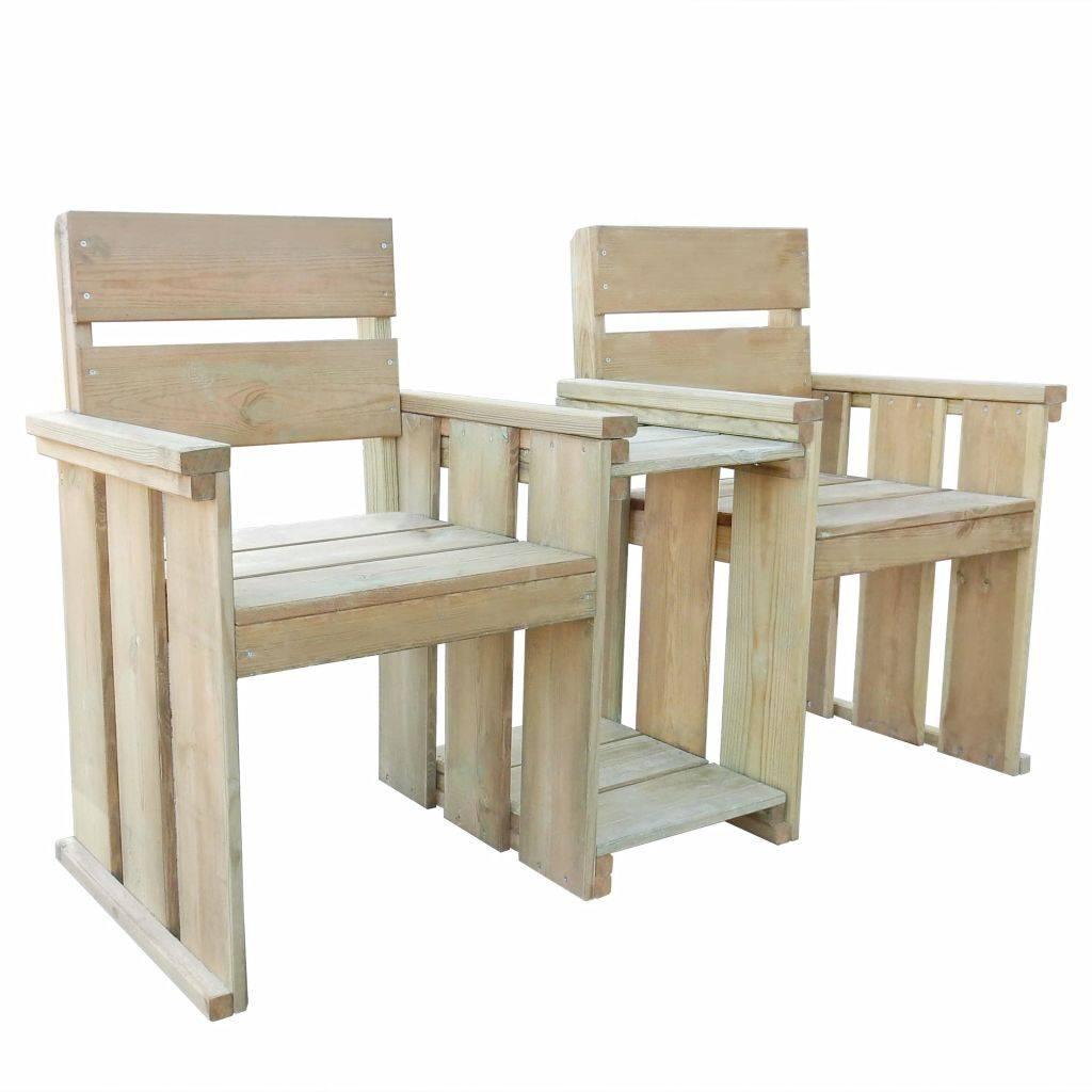 Κάθισμα 2 Θέσεων 150 x 55 x 89 εκ. Εμποτισμένο Ξύλο Πεύκου
