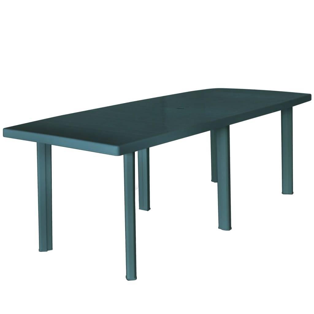 Τραπέζι Κήπου Πράσινο 210 x 96 x 72 εκ. από Πλαστικό