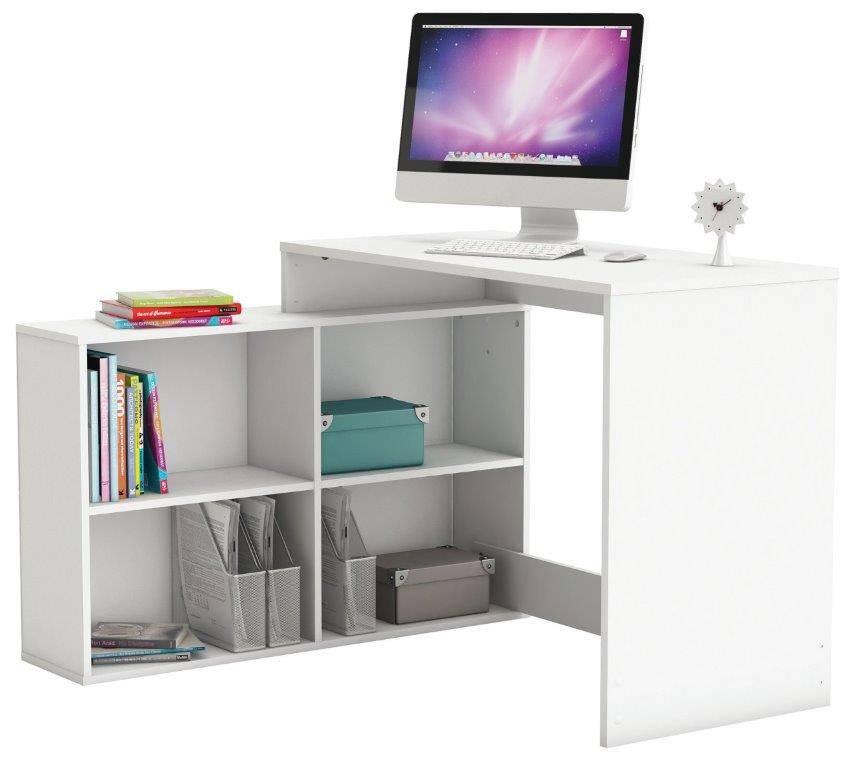 Γραφείο Angle-Λευκό