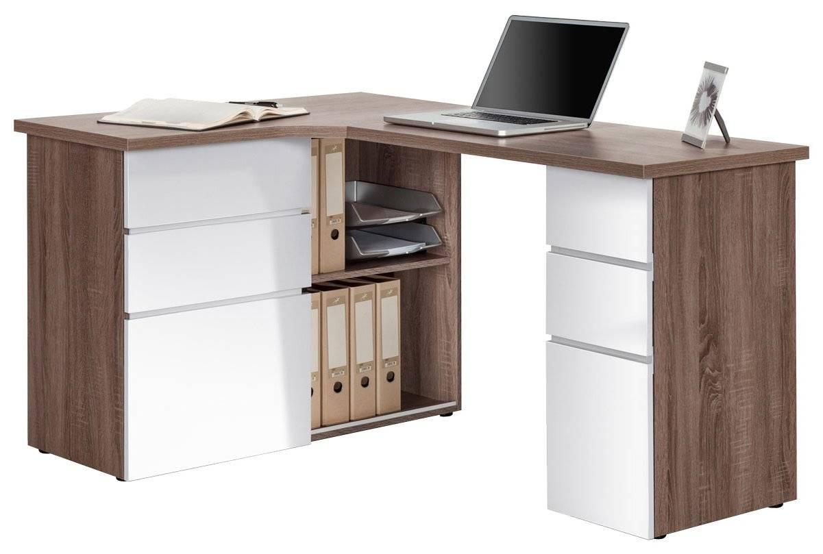 Γραφείο Linden-Καρυδί -  Λευκό