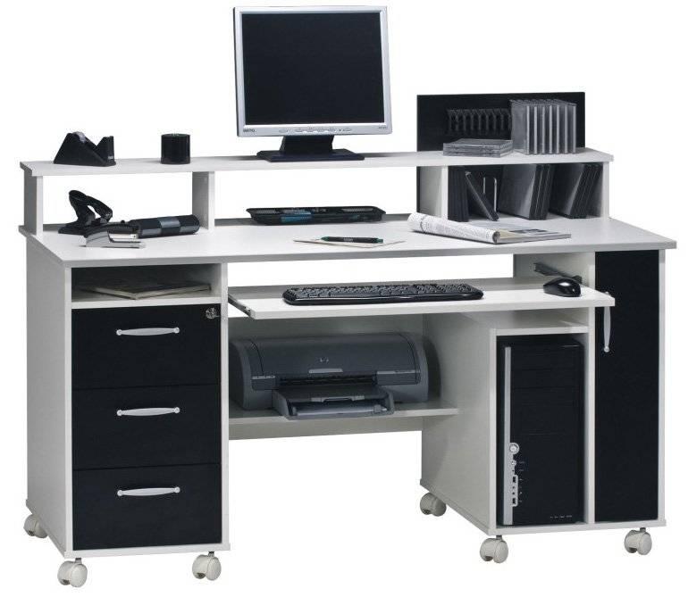 Γραφείο Edel-Λευκό - Μαύρο