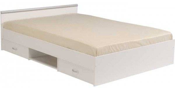 Κρεβάτι Novel-Λευκό-140 x 190