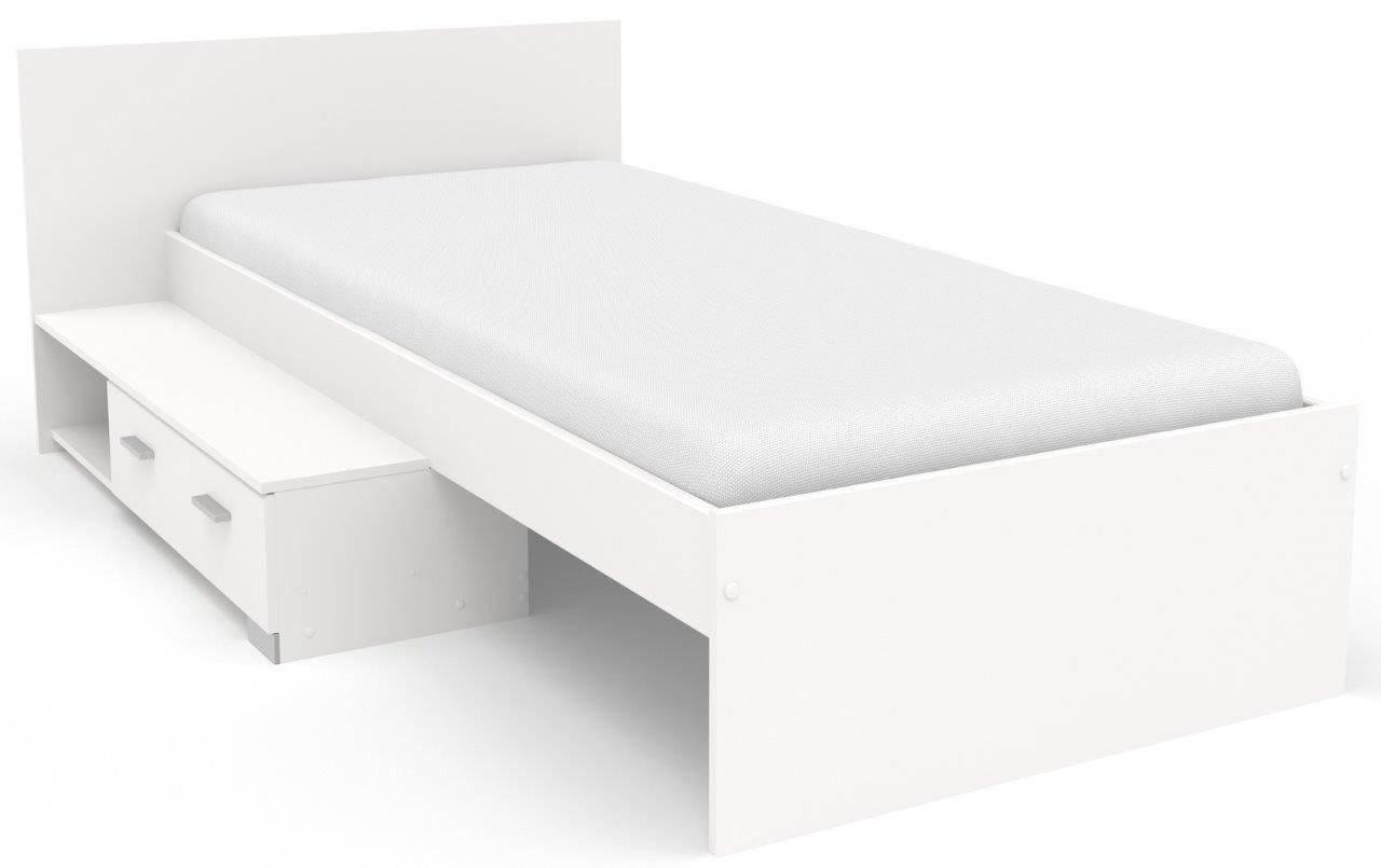 Κρεβάτι Piener με συρτάρι-Λευκό