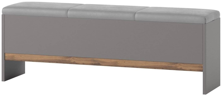 Υποπόδιο - Σκαμπό κρεβατιού Ludost-Φυσικό - Γκρι