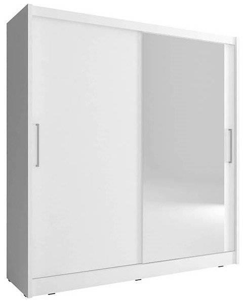 Ντουλάπα Malmo συρόμενη-200 x 62 x 214 εκ.-Λευκό