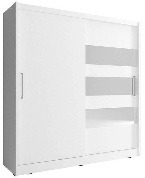 Ντουλάπα Cosmo συρόμενη-200 x 62 x 214 εκ.-Λευκό