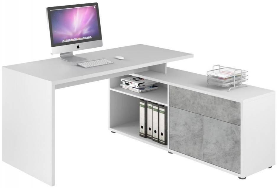 Γραφείο Brill-Γκρι - Λευκό