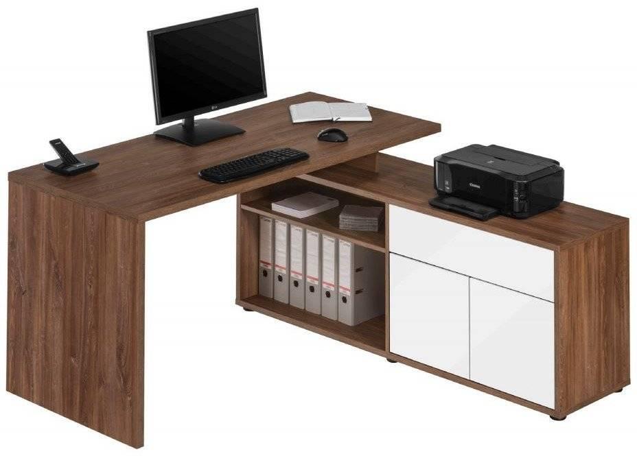 Γραφείο Brill-Καφέ - Λευκό