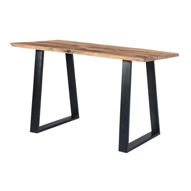 Τραπέζι Bar 160x80x95cm Ακακία Φυσικό/Μεταλ.Μαύρο