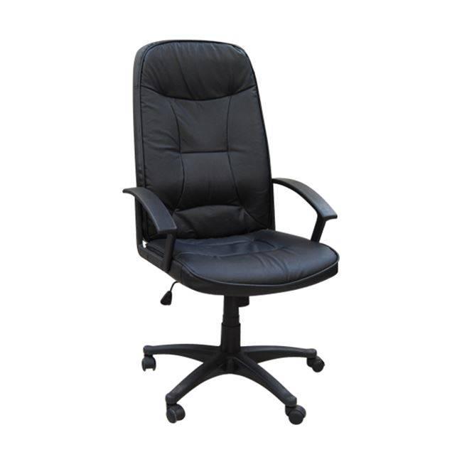 Πολυθρόνα Διευθ.Μαύρη Δερματίνη(PU)