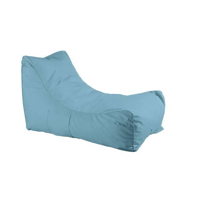 Ανάκλιντρο Πουφ Ύφ.Γαλάζιο 100% Αδιάβροχο