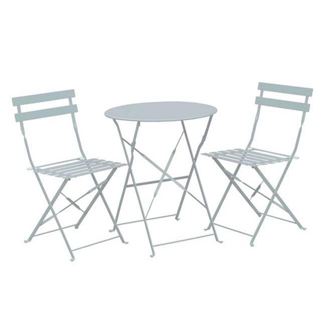Set (Τραπ.Φ60cm+2 Καρ) Μεταλ.Άσπρο