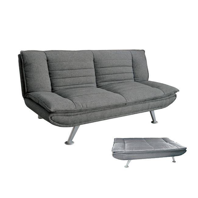 Καναπ.Κρεβάτι Ύφασμα Γκρι 183x88x85cm