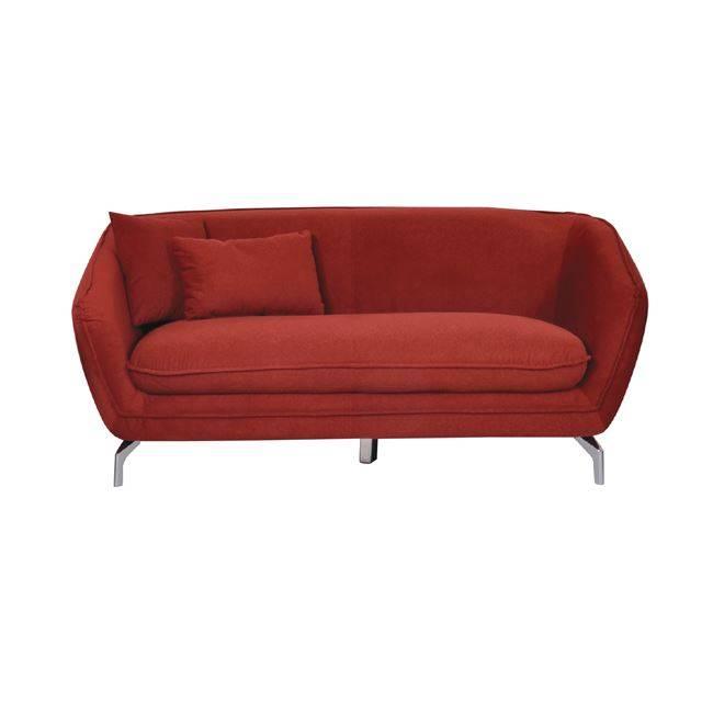 Καναπές 3θέσ.Ύφασμα Κεραμιδί 195x85x78cm