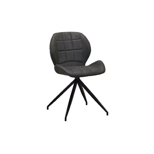 Καρέκλα Μεταλλική Μαύρη/Ύφασμα Suede Ανθρακί