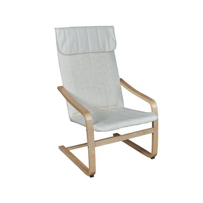 Πολυθρόνα Σημύδα/Ύφασμα Λευκό