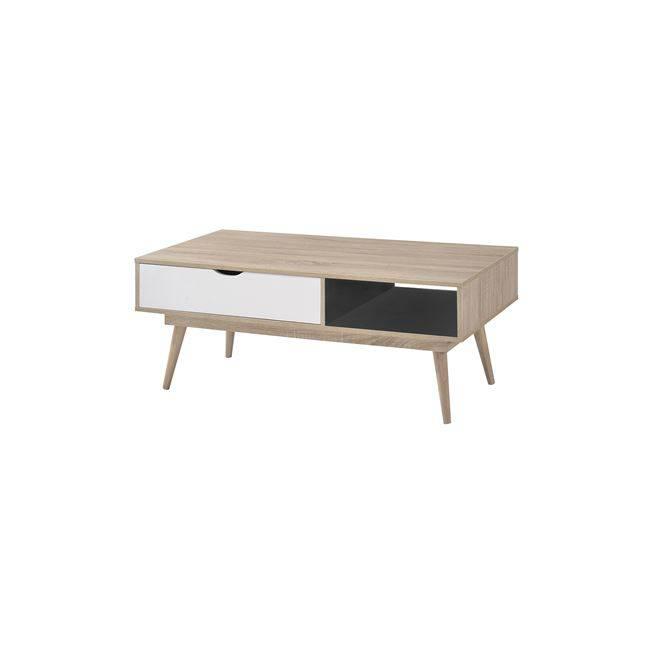 Τραπ.Σαλονιού 120x60x50 Sonoma/Άσπρο