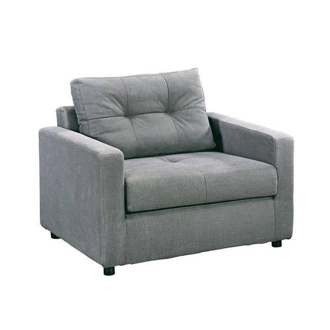 Πολυθρόνα-Κρεβάτι Ύφασμα Γκρι