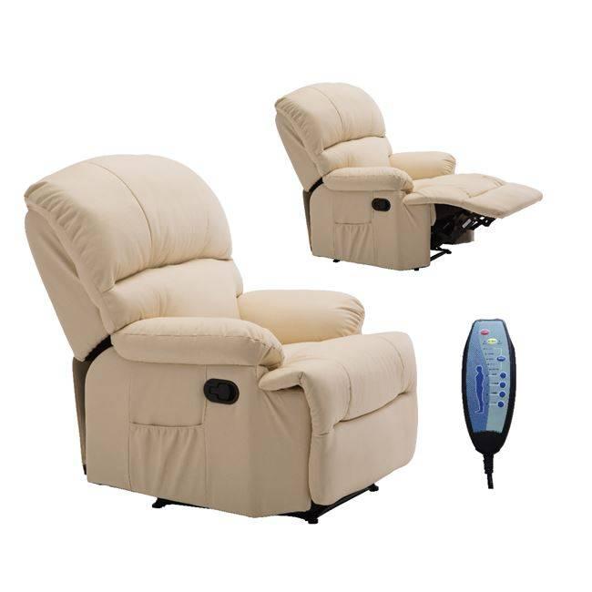 Πολυθρόνα Massage Pu Μπεζ
