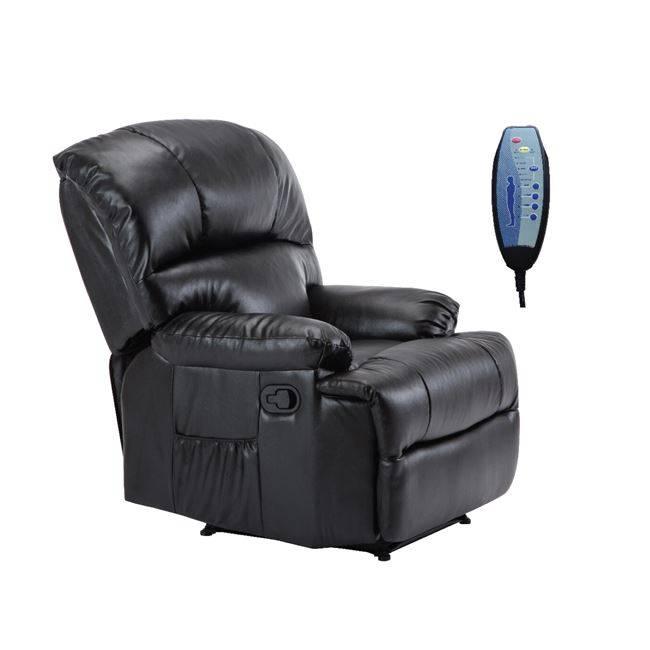 Πολυθρόνα Massage Pu Μαύρο