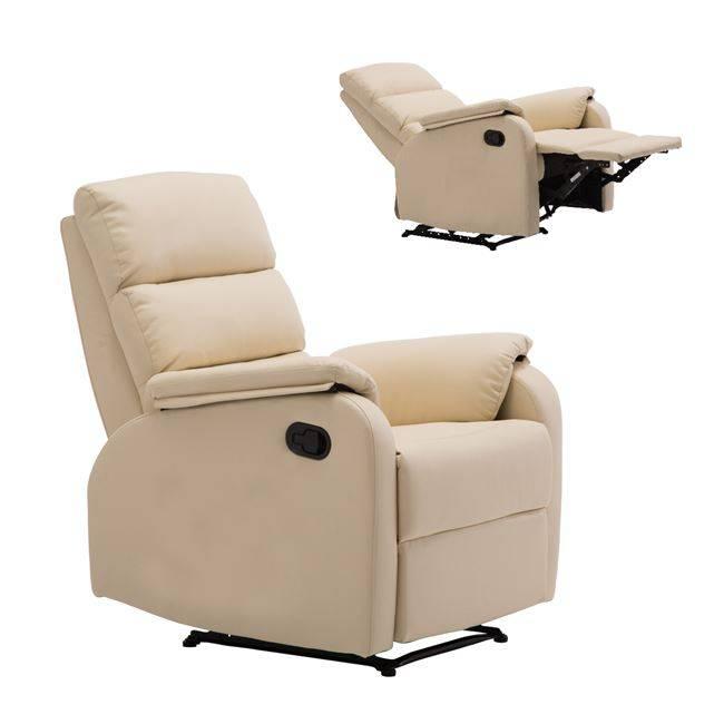 Πολυθρόνα Relax Pu Μπεζ
